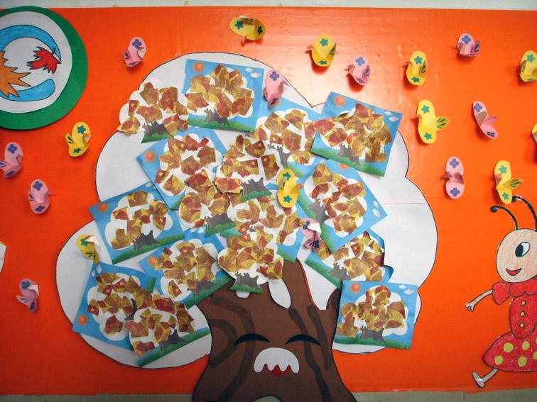 幼儿园墙面布置:树爷爷和小鸟儿