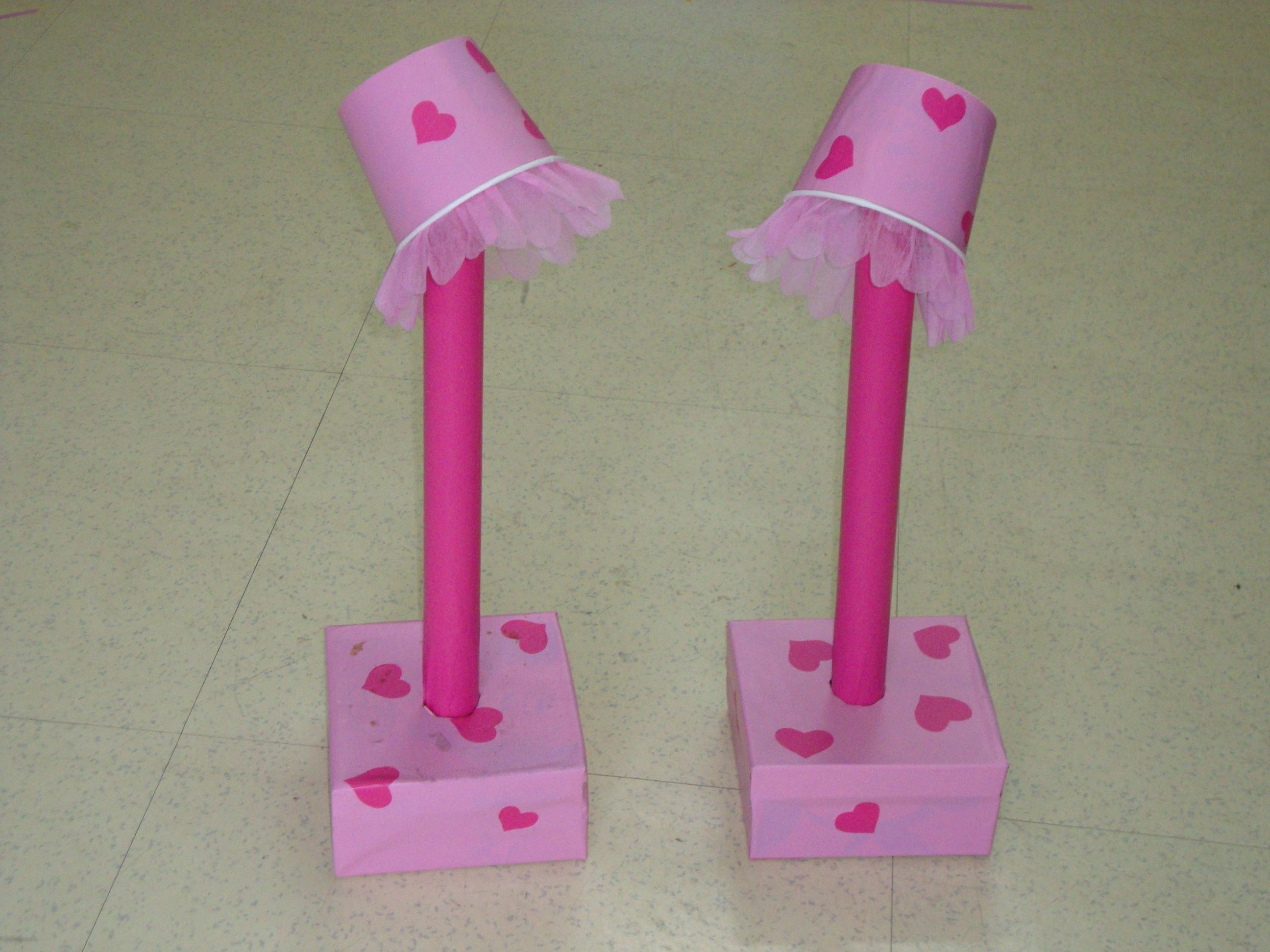 幼儿园自制教玩具:落地床头灯