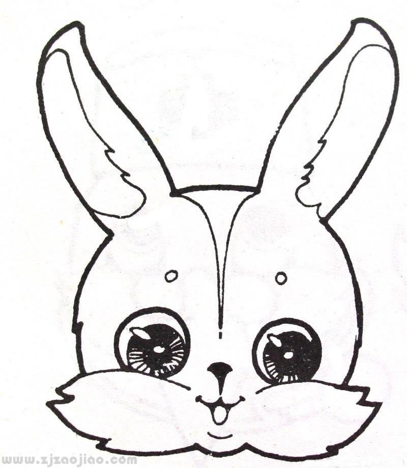 小兔子简笔画图片; 小兔子简笔画