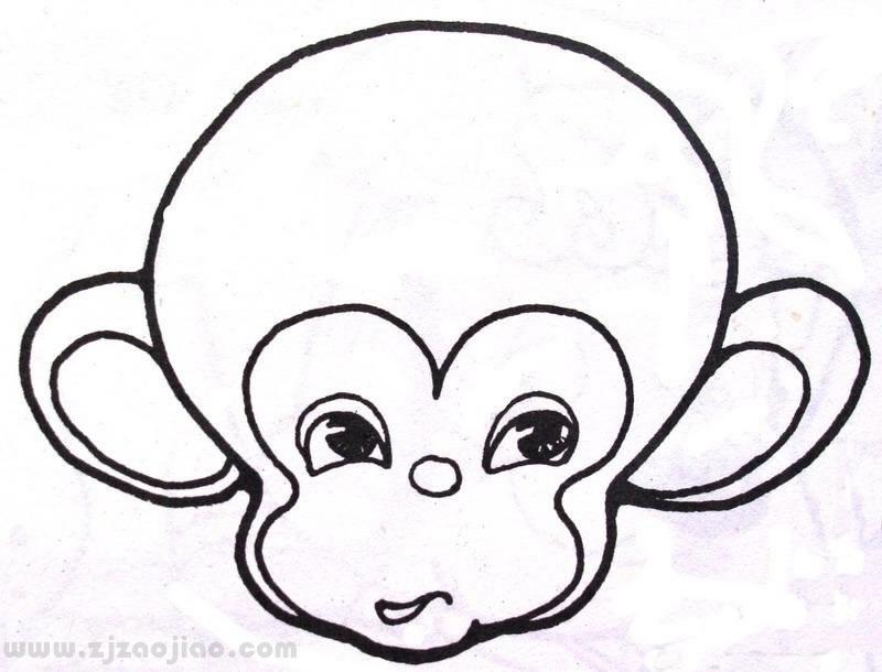 小猴子简笔画_卡通小猴子简笔画图片