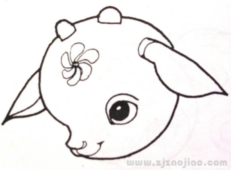 幼儿园小鹿简笔画