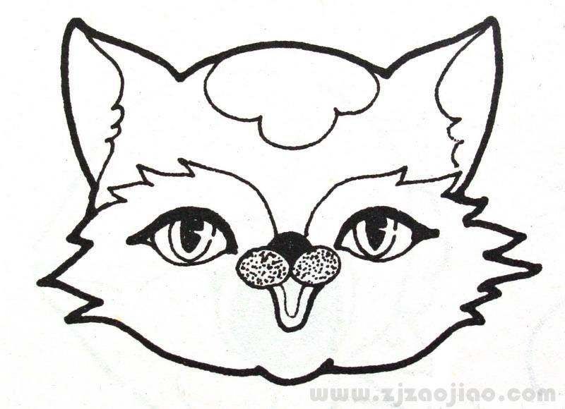 动物简笔画大全步骤图 猫咪