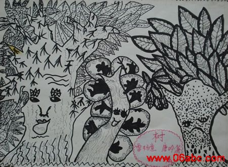 线描画——独创花手绢(大三班)[7]_第2页_乐乐简笔画图片