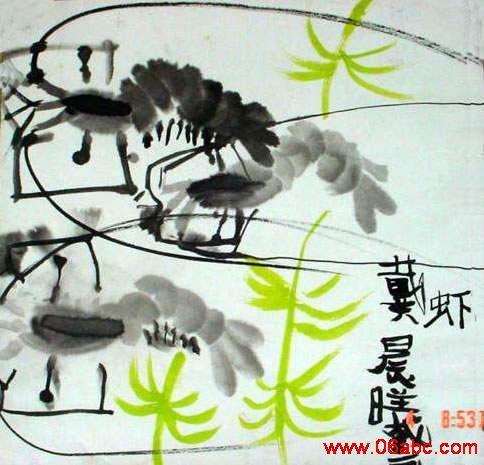 大班幼儿绘画作品展_幼儿作品:水墨画-虾-绘画-图片- 资源下载 - 浙江学前教育网