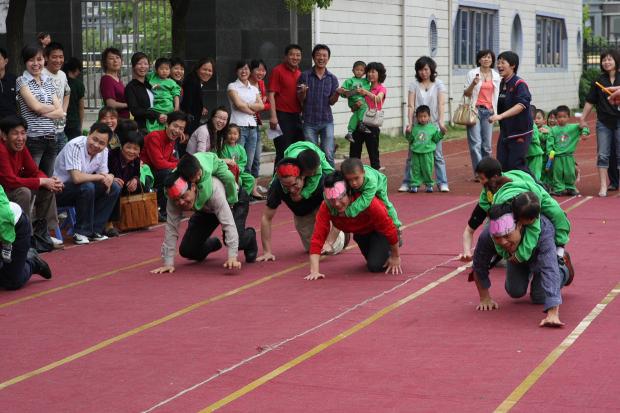 早操班牌_天马幼儿园迎奥运 亲子运动会圆满成功图片