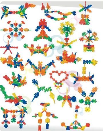 几何积木(大件) - 桌面拼插积塑 - 幼儿园教具 - 学前