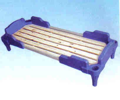 叠式塑料高脚木板床