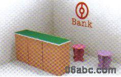 高品质娃娃家系列 小银行 幼儿园区域游戏角色模拟