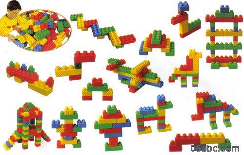商城首页 幼儿园教具 桌面拼插积塑 > > 塑料儿童开心积木280件-拼插