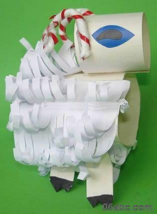 纸卷小动物(小螃蟹 小兔子 小羊)