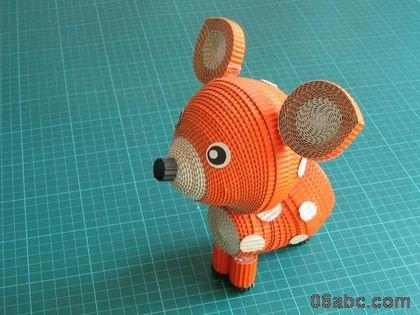 废旧物手工:超精致的纸卷小动物 - 啊喔哦创想绘画 - 啊喔哦创想绘画的博客