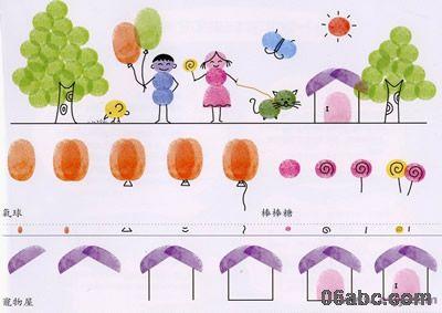 幼儿园指纹画作品_一些有趣的指纹画-图库- 分类导航 - 浙江学前教育网