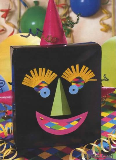 万圣节的儿童面具制作图
