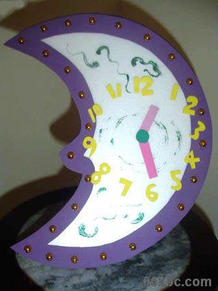 幼儿园手工制作:小闹钟
