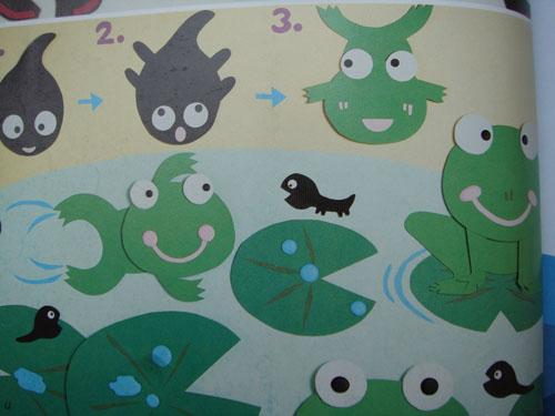 幼儿园室内墙面:青蛙的生长过程 - 幼儿园主题