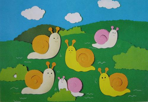 幼儿园墙面装饰:蜗牛