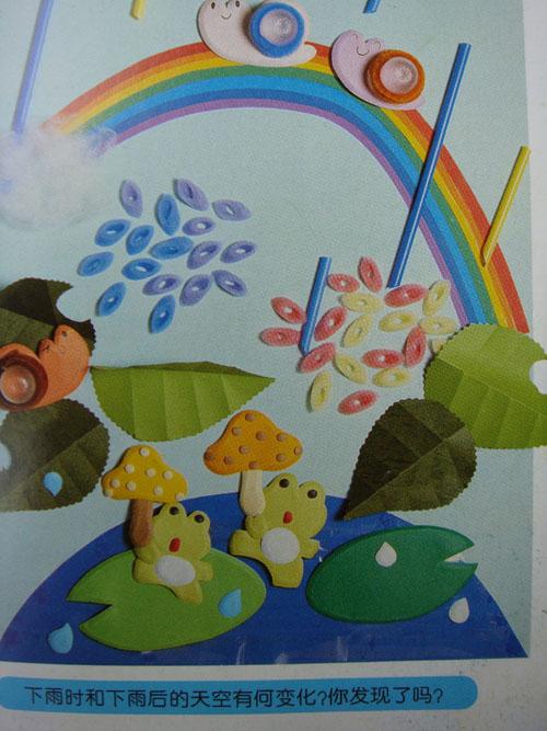 幼儿园益智区墙面设计图片_美美编织