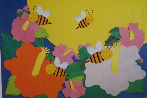 幼儿园墙面布置:牡丹花