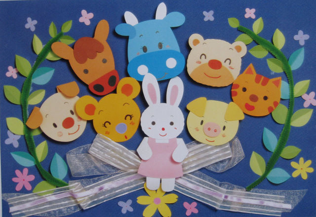 幼儿园墙面设计:好朋友