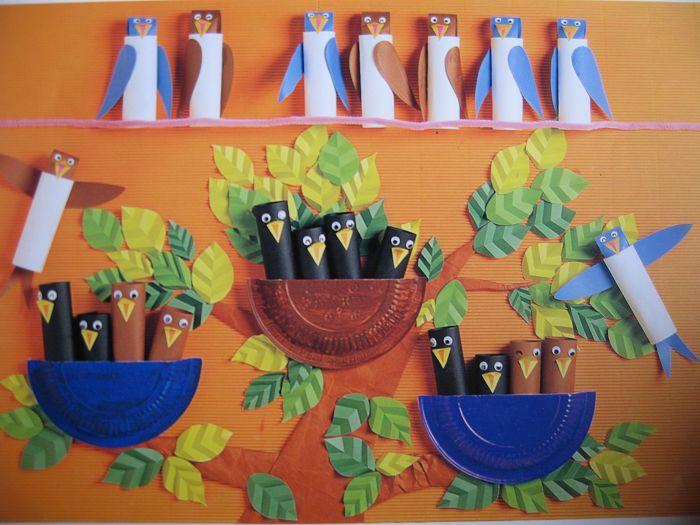 幼儿园墙面布置:喜鹊爱巢 幼儿园主题墙