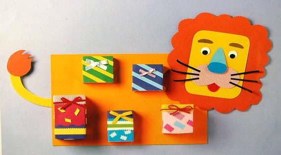 幼儿园墙面布置:狮子墙