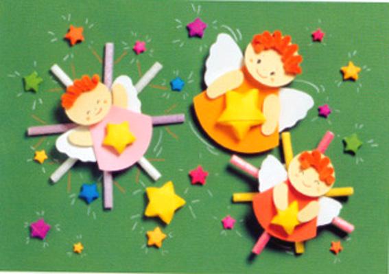 幼儿园春天墙面布置:可爱的小天使