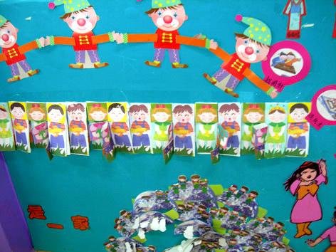 幼儿园墙面布置:我们是一家