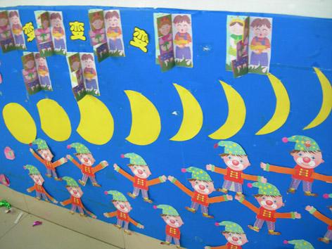幼儿园走廊墙面布置:我们手牵手