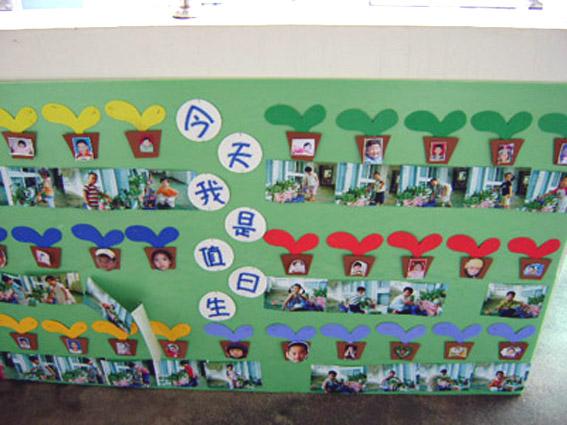 幼儿园区域墙面布置:谁是值日生