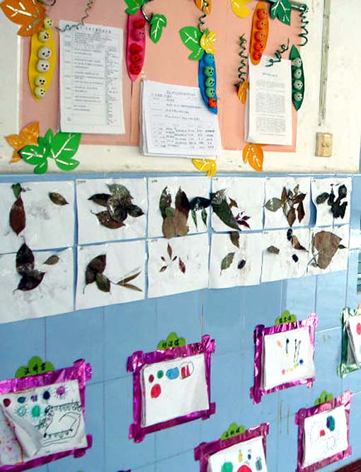 幼儿园走廊布置:小巧手