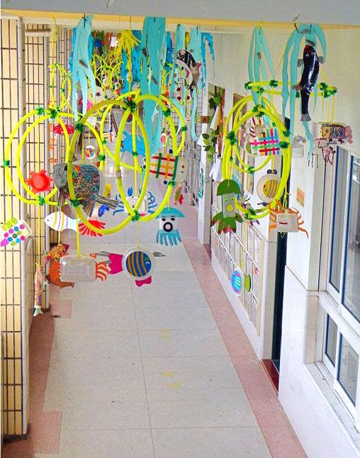 幼儿园走廊吊饰-花环