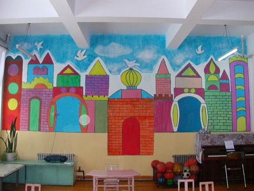 幼儿园墙面布置:城市-区角环境布置-图片