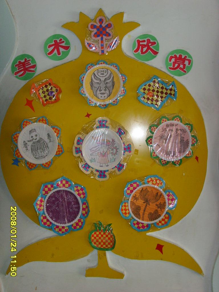 幼儿园墙面布置:美术欣赏线条画