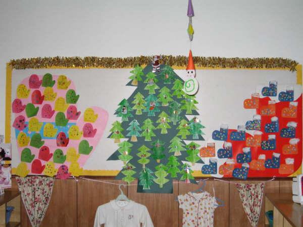 幼兒園環境布置:圣誕節墻面6-幼兒園主題墻-圖片