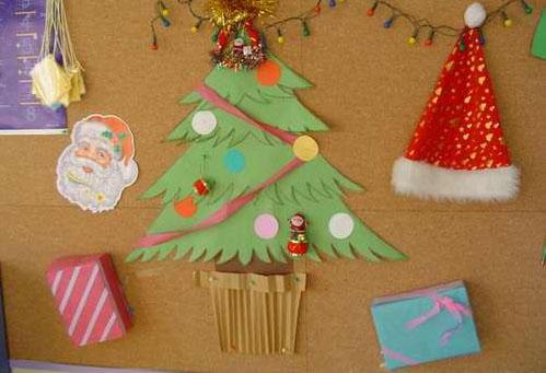 幼儿园环境布置:圣诞节墙面5