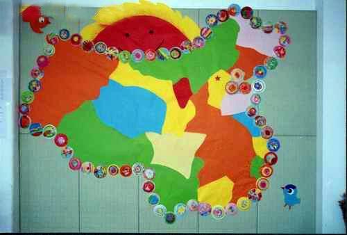 幼儿园墙面布置:祖国版图图片