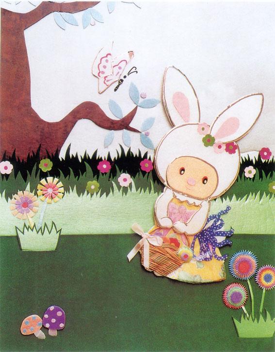 幼儿园立体纸雕:美丽的春天