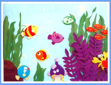 幼儿园立体手工纸雕:海洋精灵