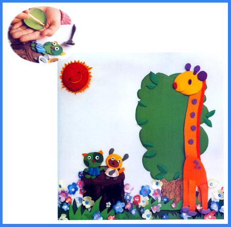 幼儿园手工立体纸雕:美丽的春天