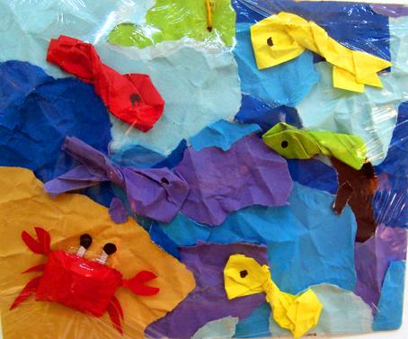 幼儿园室外设计:海底世界; 幼儿园墙饰:海底世界; 幼儿园环境布置墙面