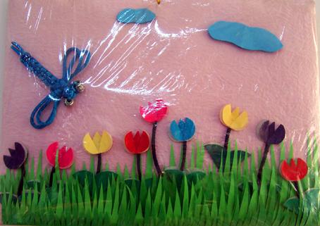 北京永东幼儿园墙饰手工作品——蜻蜓2