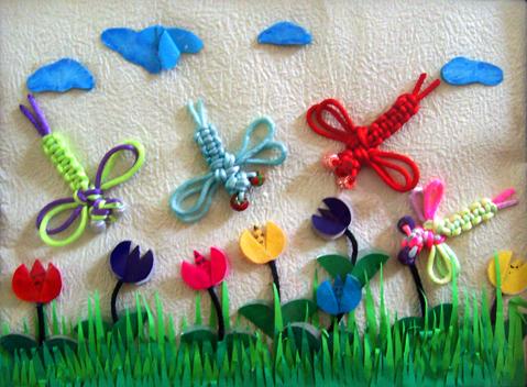 北京永东幼儿园墙饰手工作品——蜻蜓