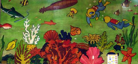 幼儿园小班绘画教案:美丽的海底世界图片