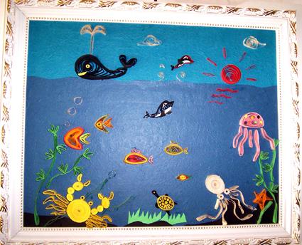 幼儿园墙面布置:海底世界5图片