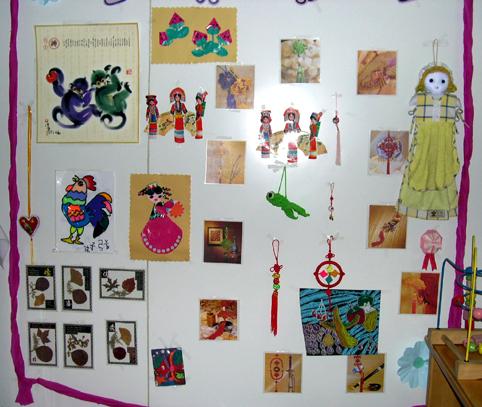 幼儿园墙面布置:手工制作1