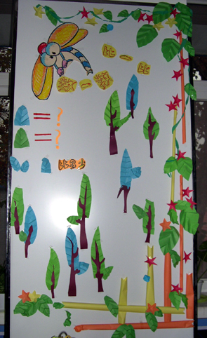 幼儿园墙面布置:比一比数一数