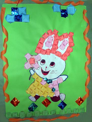 幼儿园墙面布置:小白兔