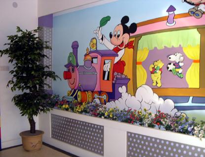 幼儿园墙面设计:卡通-幼儿园主题墙-图片- 资源下载