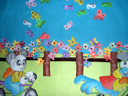 幼儿园环境布置:小动物(墙面)