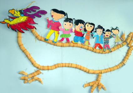 幼儿园环境布置:赛龙舟(墙面)